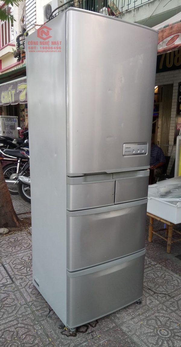 Tủ lạnh HITACHI R-S47YM nội địa nhật 5 cánh đã qua sử dụng nhưng hình thức còn rất mới 90 ,nguyên zin 100% chưa qua sửa chữa